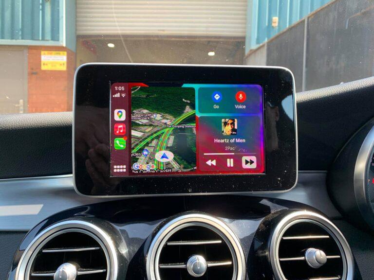 Mercedes C Class Apple Carplay Integration Carplay Dashboard BB Audioconcepts