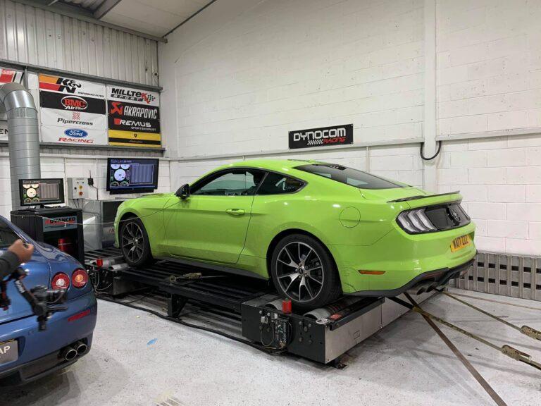 Mustang Upgrades BB Audioconcepts Mustang on Dyno