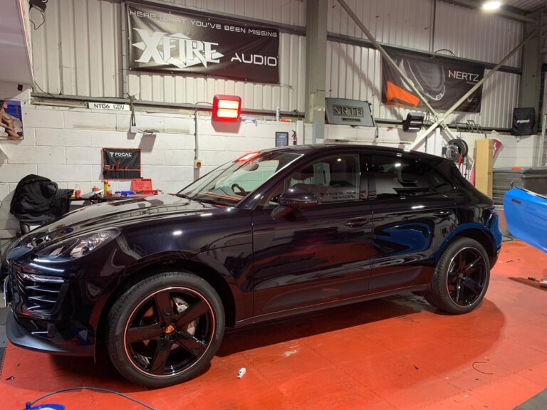 Porsche Macan at BB Audioconcepts for Front and Reverse Camera Integration