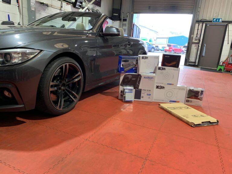 BMW 430D Convertible Upgrades Ready BB Audioconcepts