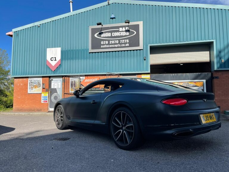 Bentley GT Coupe in for Tints at Cardiff Tints with BB Audioconcepts Cardiff
