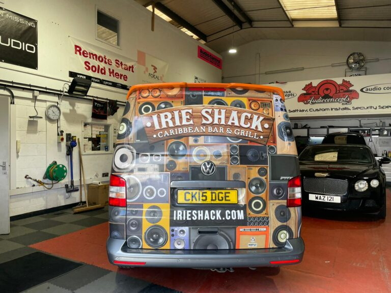 Irie Shack VW T5 Multimedia and Audio Upgrade at BB Audioconcepts Cardiff Workshop